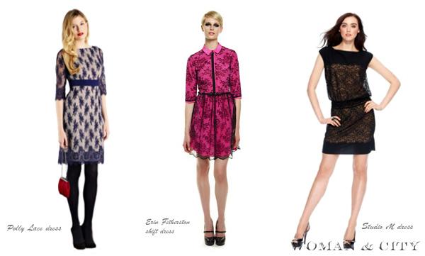 контрастні мереживні сукні
