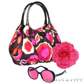 сумка з квітковим принтом