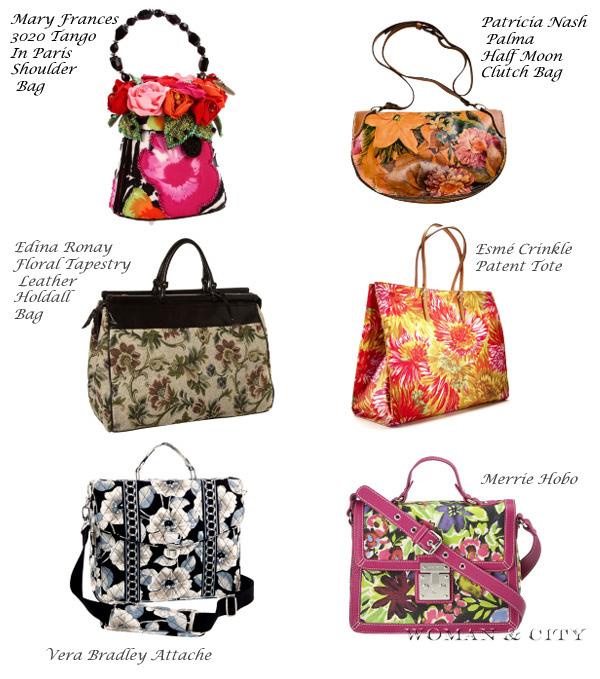 сумки с цветочным принтом